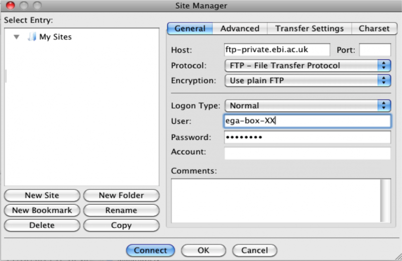 Using FTP and Aspera to download data - EGA European Genome