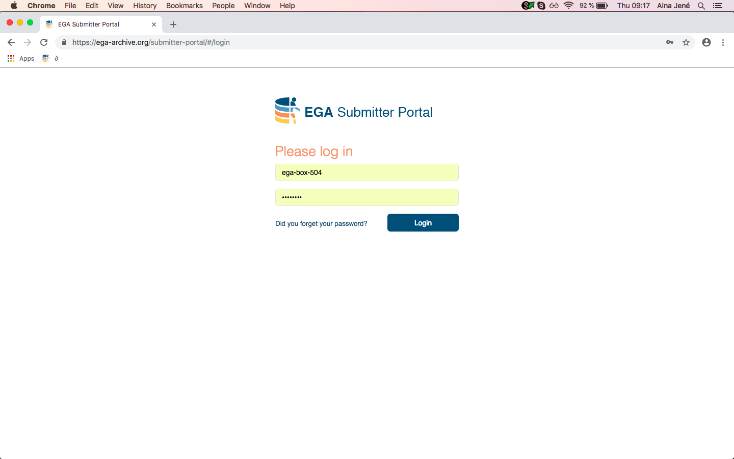 Submitter Portal - EGA European Genome-Phenome Archive